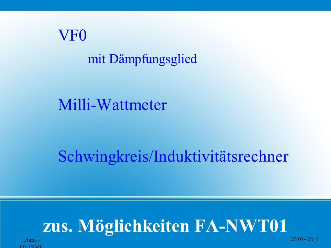 zus. Möglichkeiten FA-NWT01