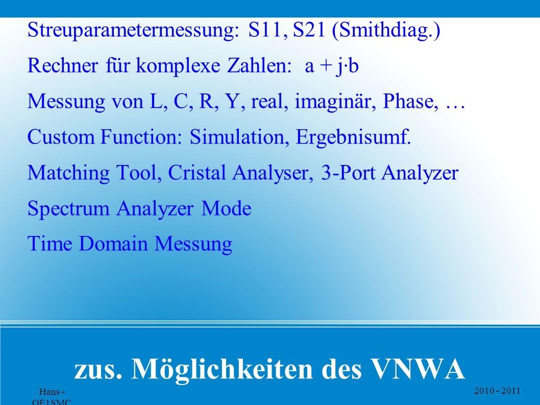zus. Möglichkeiten des VNWA