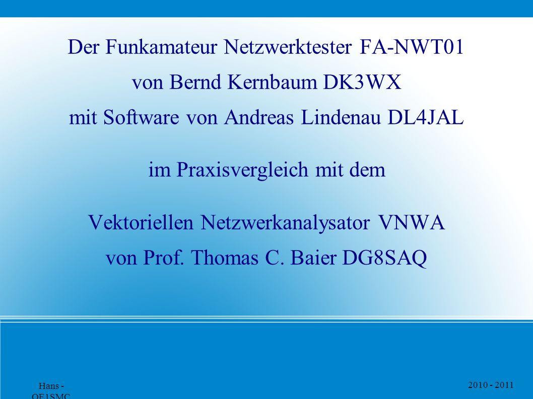 Der Funkamateur Netzwerktester FA-NWT01 von Bernd Kernbaum DK3WX