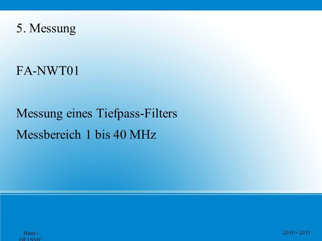 Messung eines Tiefpass-Filters Messbereich 1 bis 40 MHz