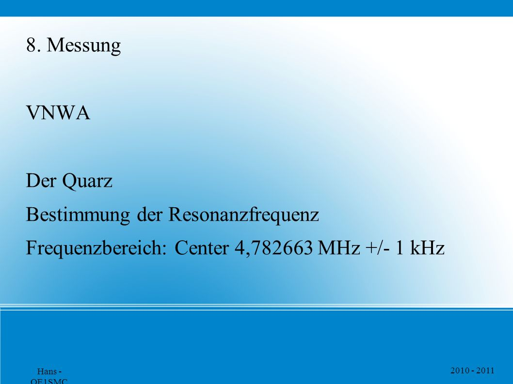 Bestimmung der Resonanzfrequenz