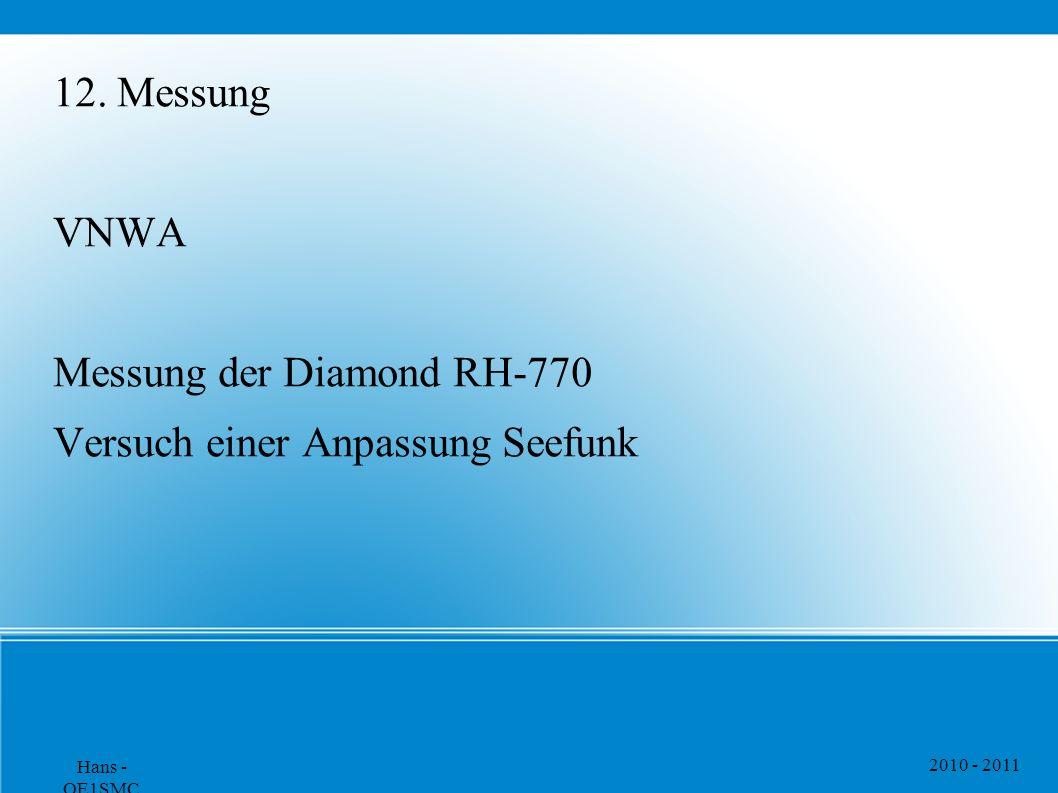 Messung der Diamond RH-770 Versuch einer Anpassung Seefunk