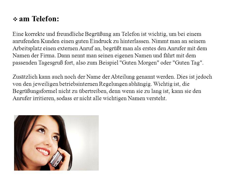 am Telefon:
