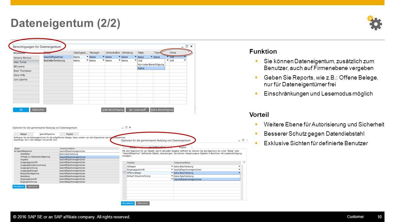 Dateneigentum (2/2) Funktion Vorteil