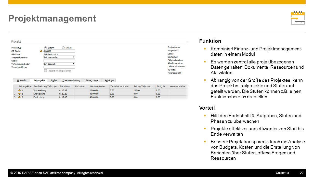 Projektmanagement Funktion Vorteil
