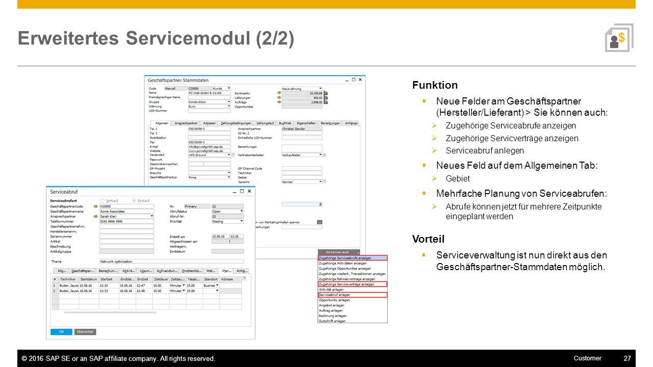 Erweitertes Servicemodul (2/2)