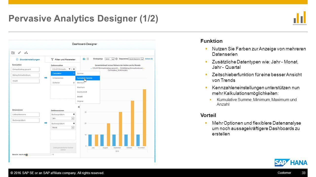 Pervasive Analytics Designer (1/2)