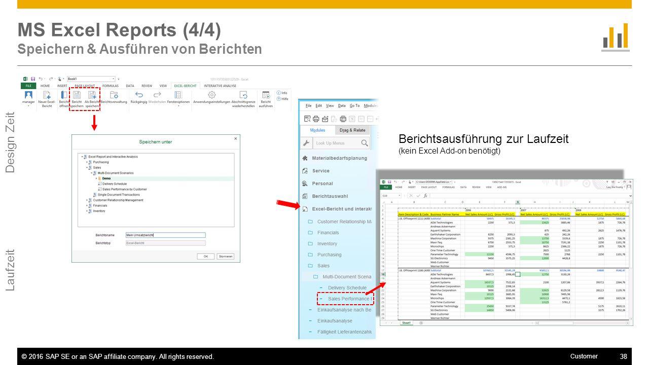 MS Excel Reports (4/4) Speichern & Ausführen von Berichten