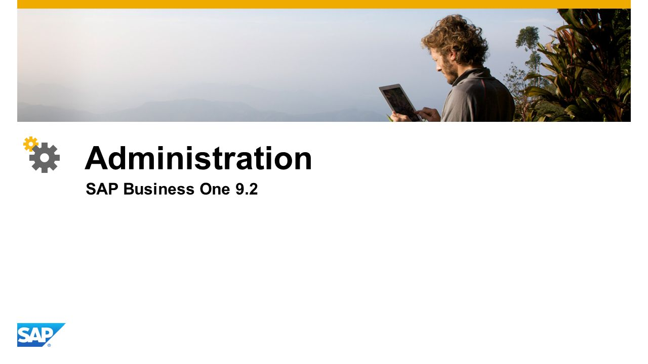 Administration SAP Business One 9.2