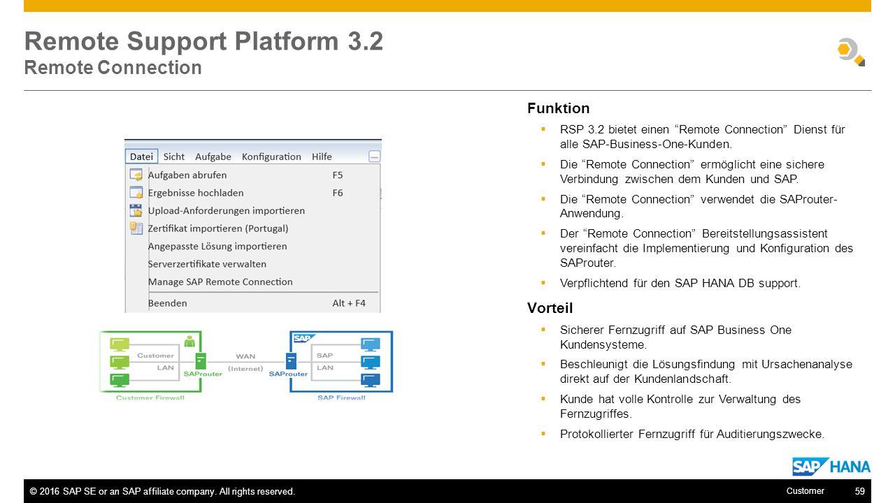 Remote Support Platform 3.2 Remote Connection