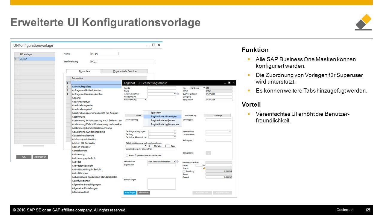 Erweiterte UI Konfigurationsvorlage