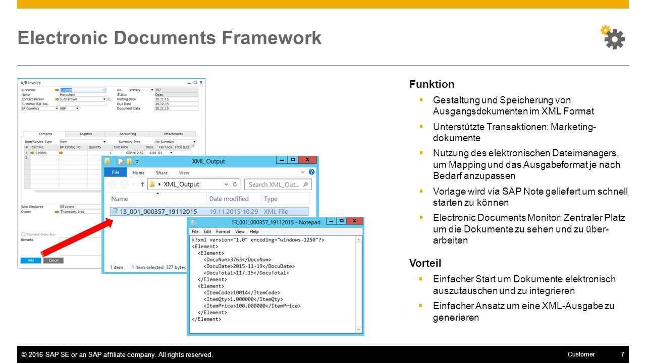 Electronic Documents Framework