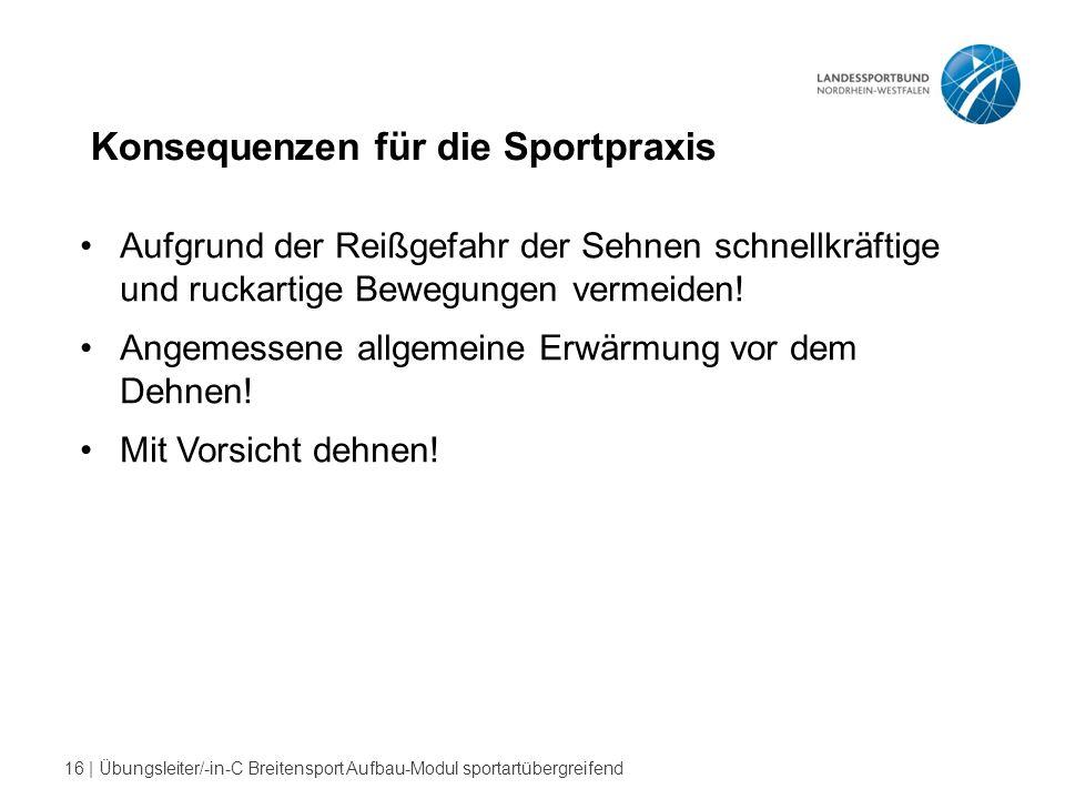 Konsequenzen für die Sportpraxis