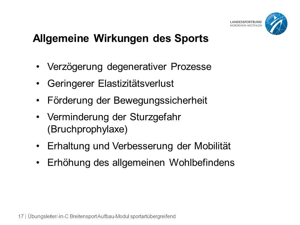 Allgemeine Wirkungen des Sports