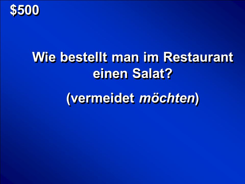 Wie bestellt man im Restaurant einen Salat