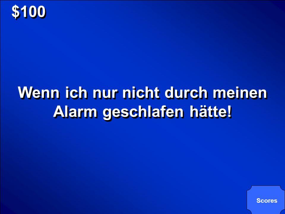 Wenn ich nur nicht durch meinen Alarm geschlafen hätte!