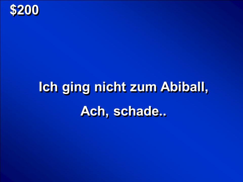 Ich ging nicht zum Abiball,