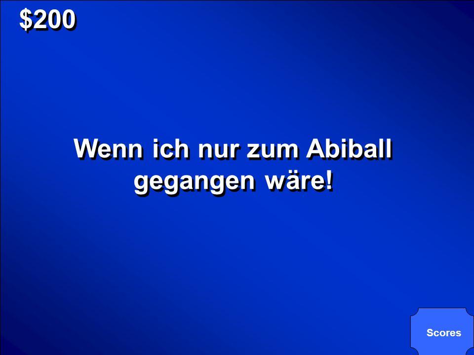 Wenn ich nur zum Abiball gegangen wäre!