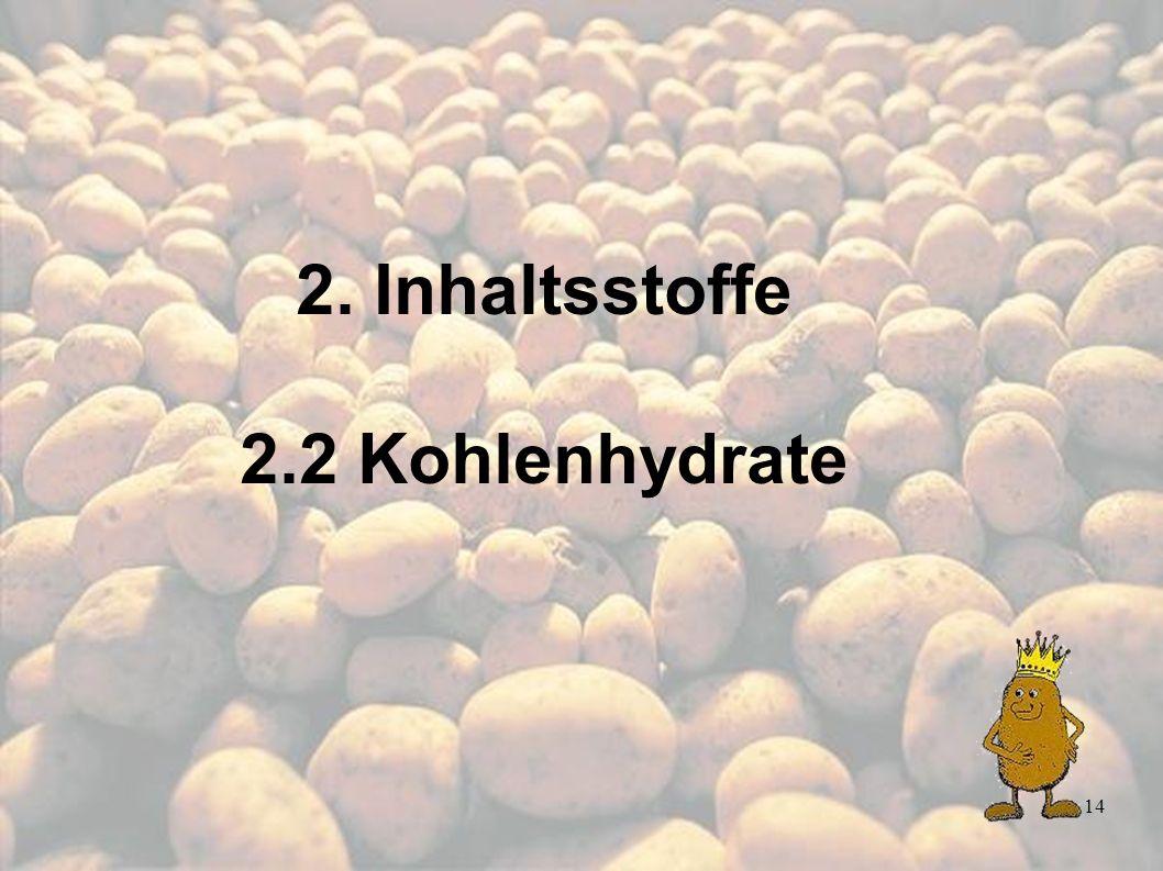 2. Inhaltsstoffe 2.2 Kohlenhydrate