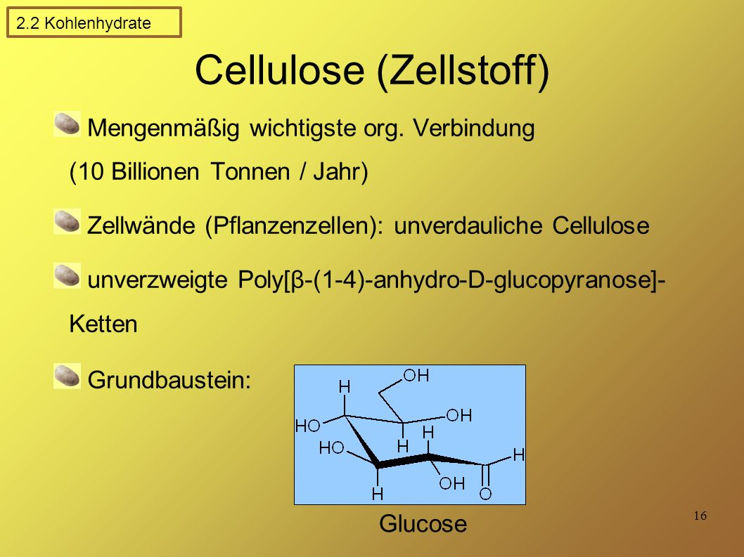Cellulose (Zellstoff)