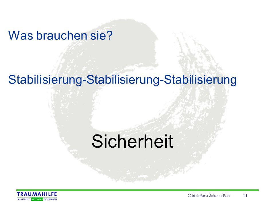 Stabilisierung - Handlungsmöglichkeiten