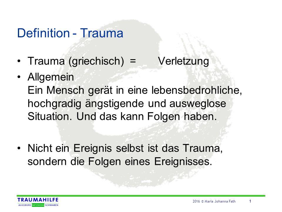 Kategorien von Traumata