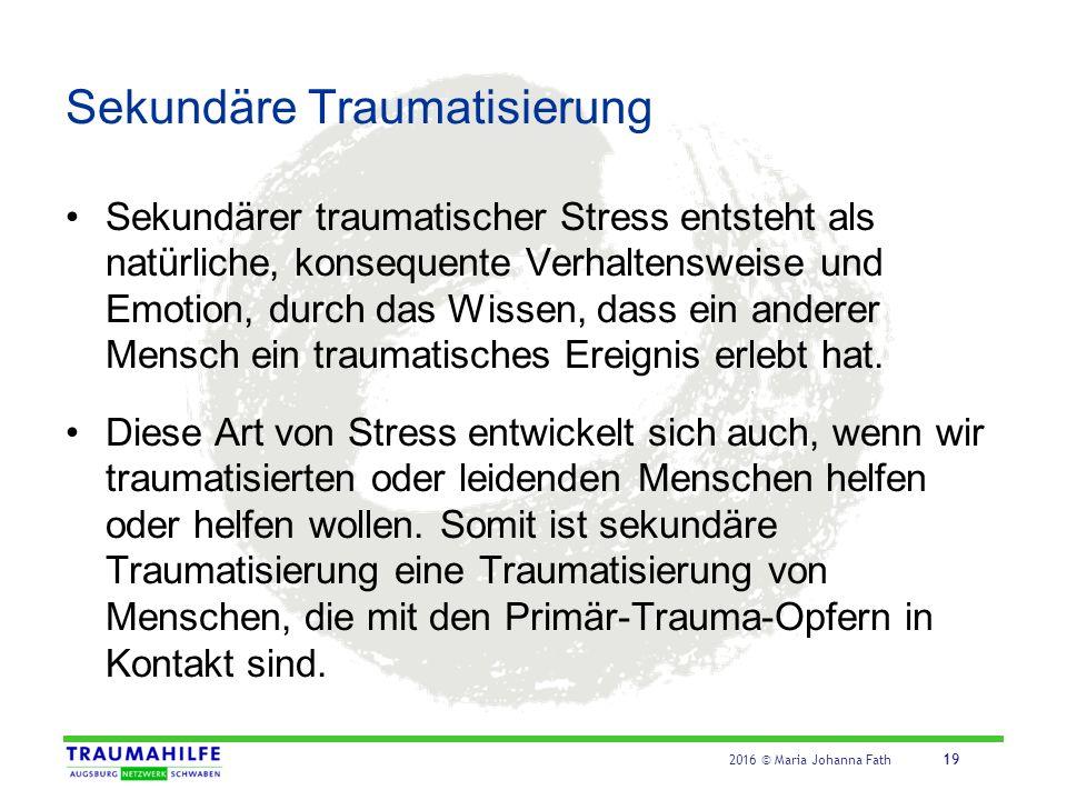 ABC des Schutzes vor Sekundärer Traumatisierung (Udolf, 2008)