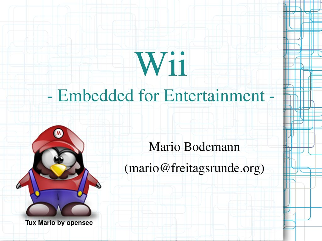 Wii - Embedded for Entertainment -