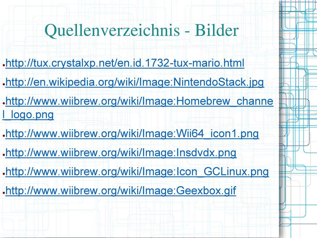 Quellenverzeichnis - Bilder