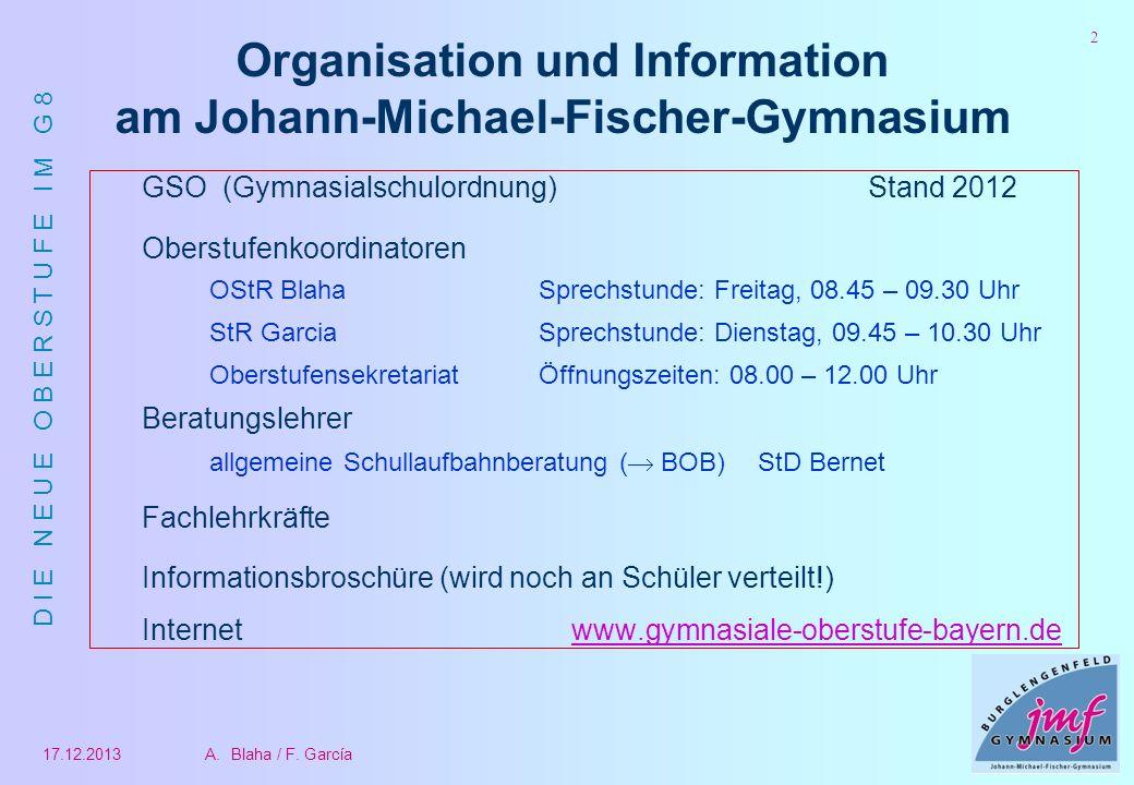 Organisation und Information am Johann-Michael-Fischer-Gymnasium