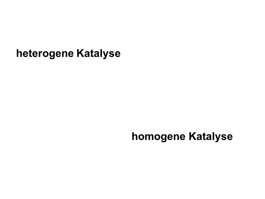 heterogene Katalyse homogene Katalyse