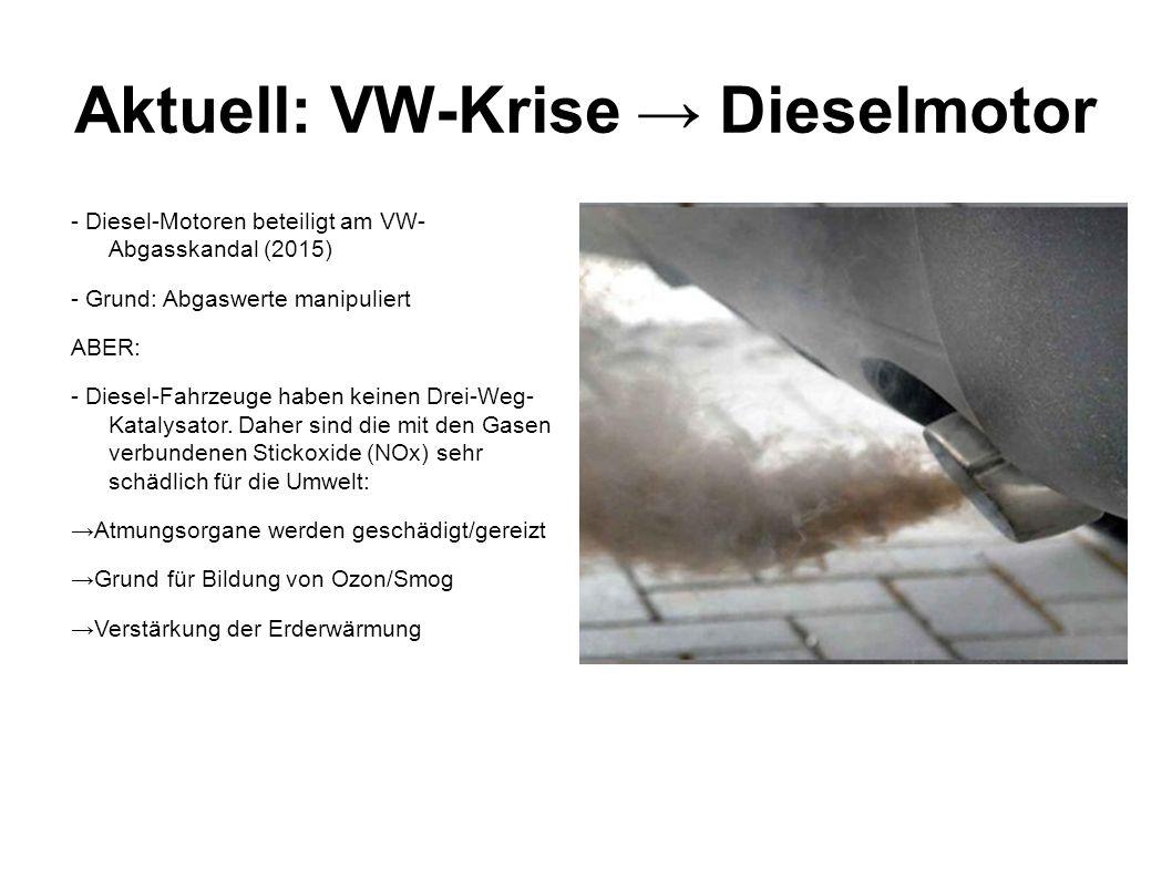 Aktuell: VW-Krise → Dieselmotor