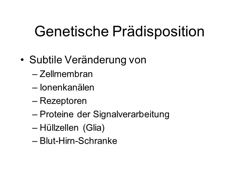 Genetische Prädisposition