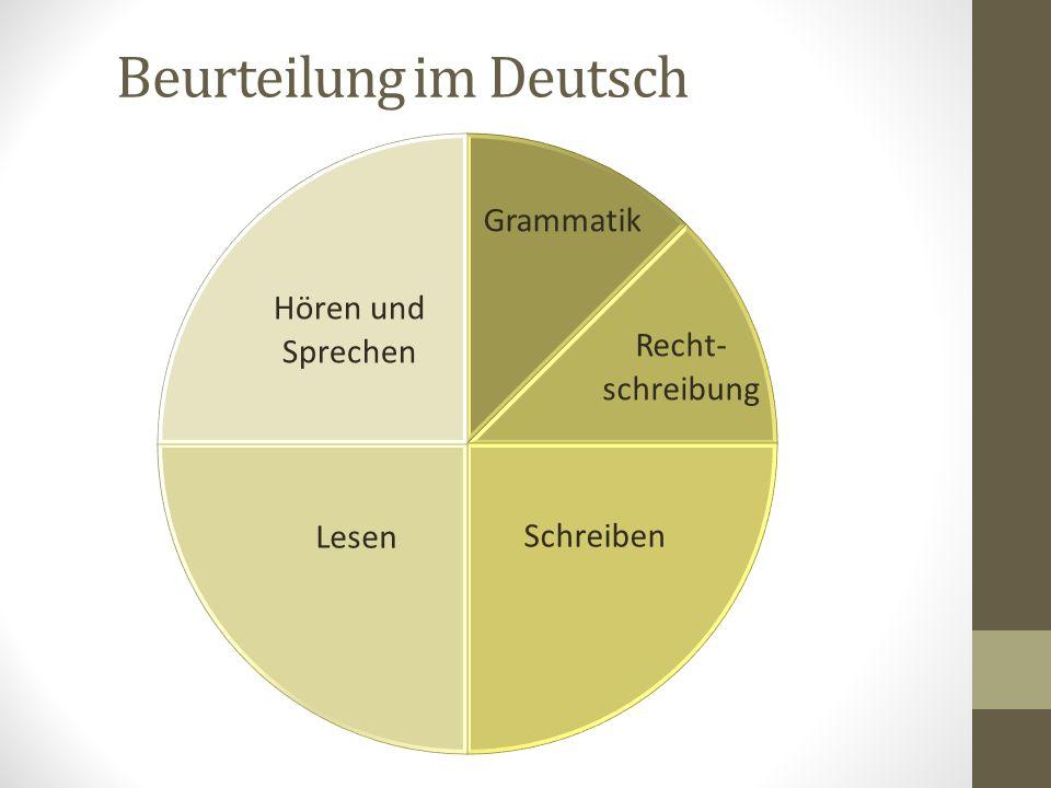 Beurteilung im Deutsch