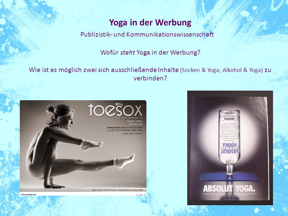Wofür steht Yoga in der Werbung