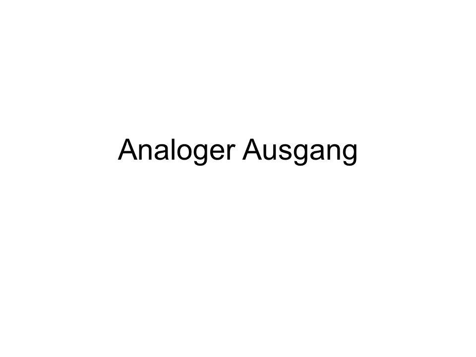 Analoger Ausgang