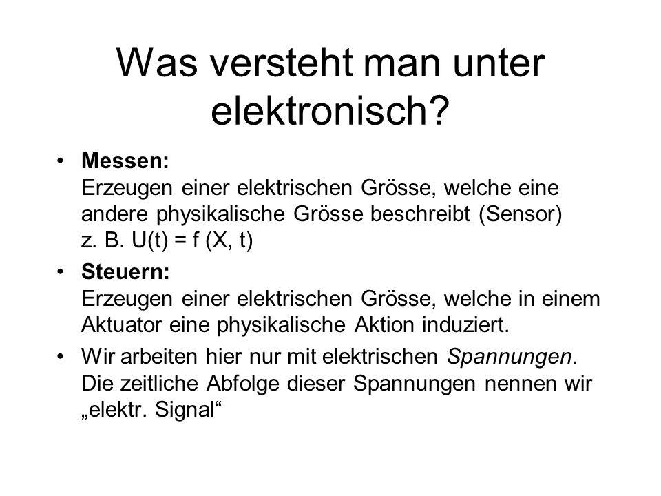 Was versteht man unter elektronisch