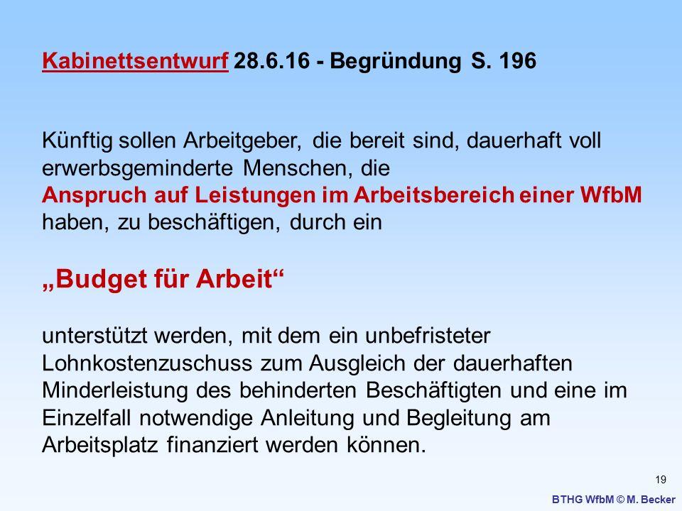 """""""Budget für Arbeit Kabinettsentwurf 28.6.16 - Begründung S. 196"""