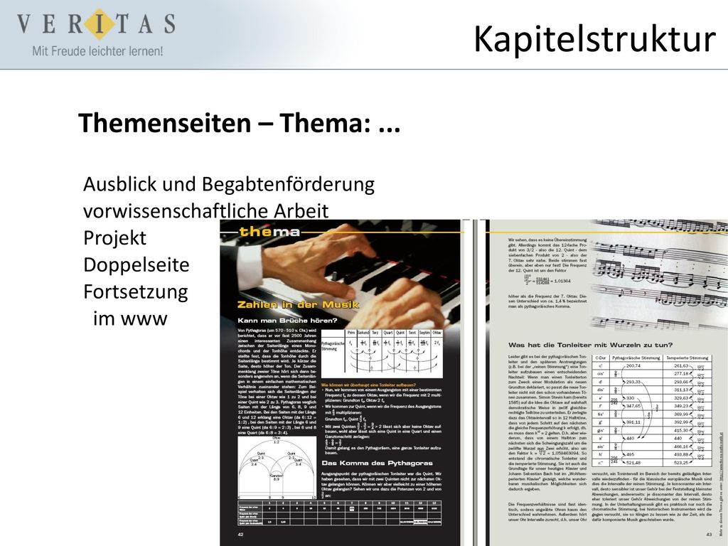 Kapitelstruktur Themenseiten – Thema: ...