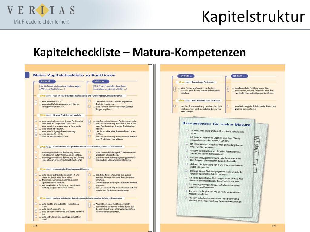 Kapitelstruktur Kapitelcheckliste – Matura-Kompetenzen
