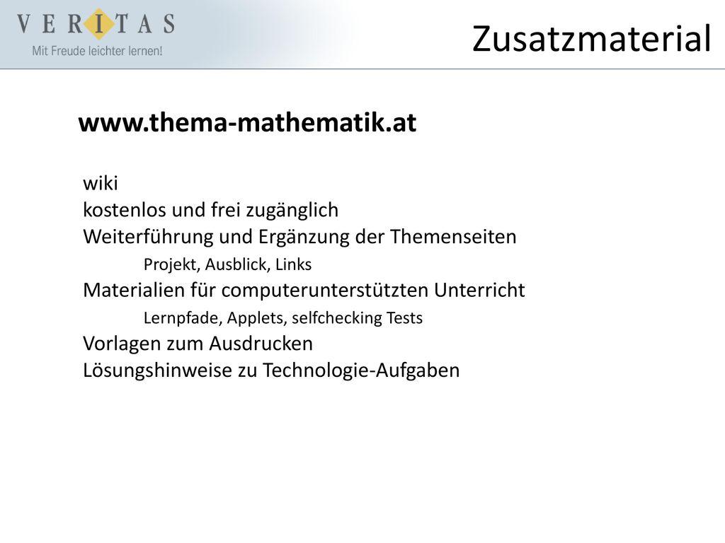 Zusatzmaterial www.thema-mathematik.at wiki