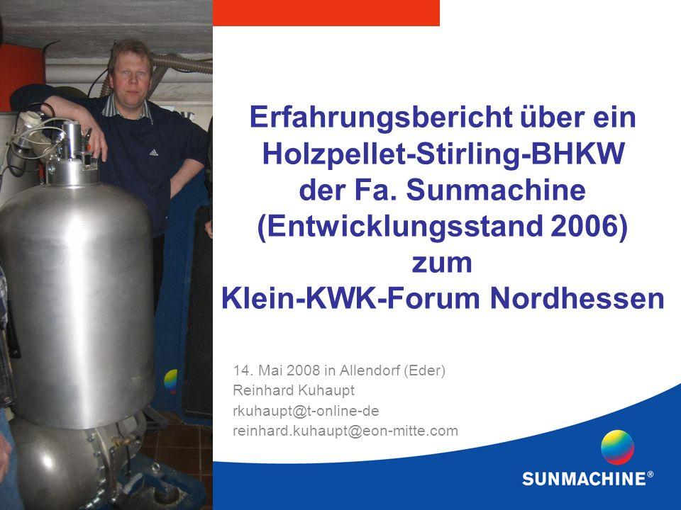 Erfahrungsbericht über ein Holzpellet-Stirling-BHKW