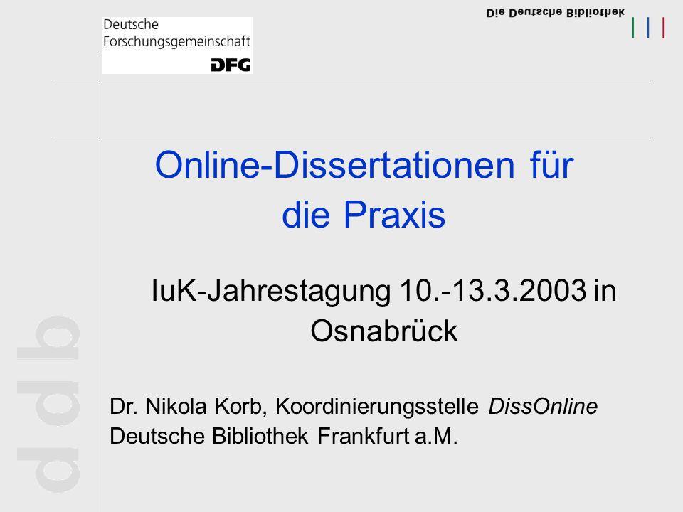 Online-Dissertationen für die Praxis