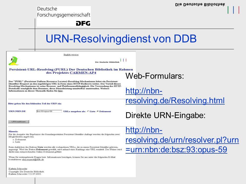 URN-Resolvingdienst von DDB