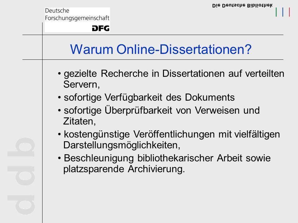Warum Online-Dissertationen