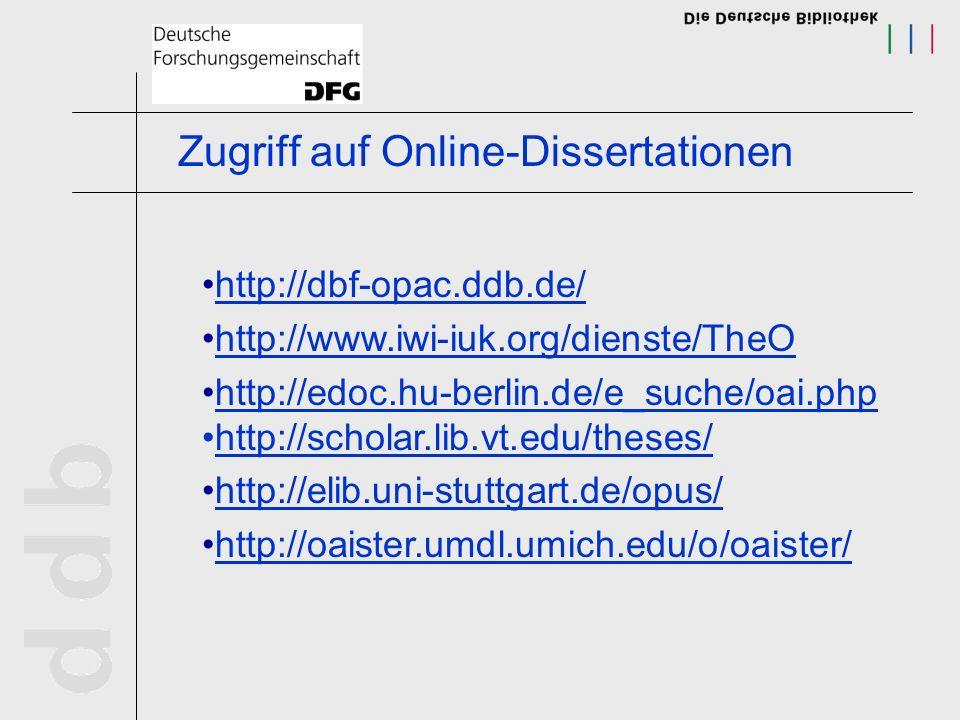 Zugriff auf Online-Dissertationen