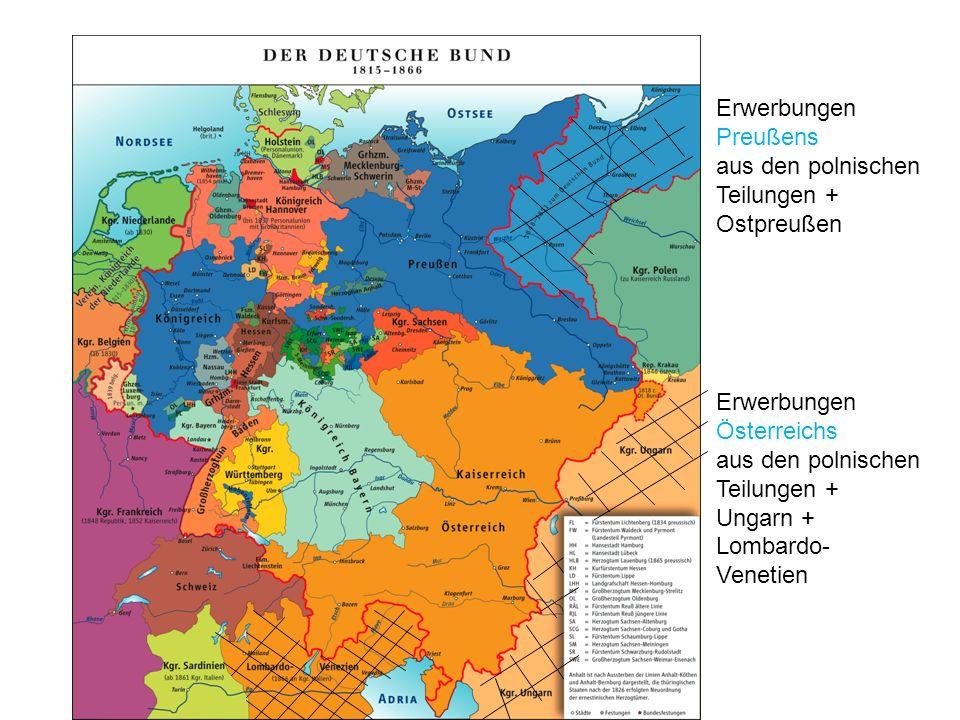Erwerbungen Preußens aus den polnischen Teilungen + Ostpreußen
