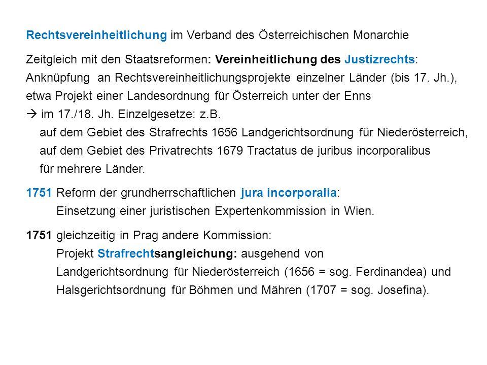 Rechtsvereinheitlichung im Verband des Österreichischen Monarchie