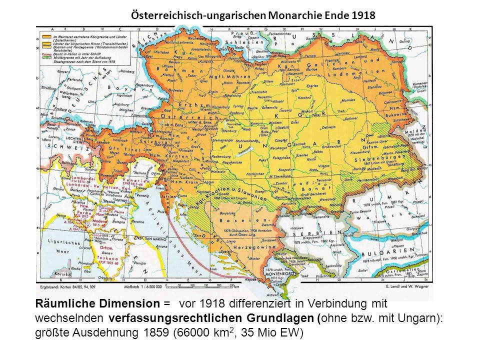 Österreichisch-ungarischen Monarchie Ende 1918