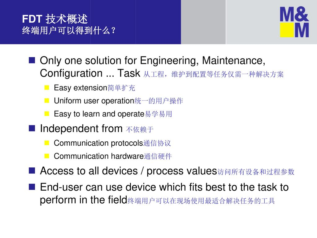 Access to all devices / process values访问所有设备和过程参数